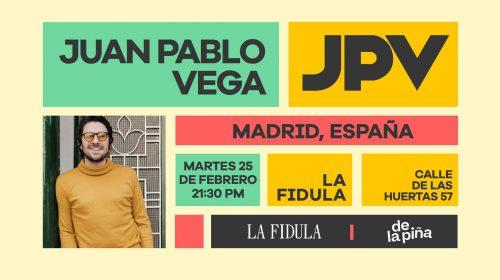 Juan Pablo Vega el 25 de febrero en la Fídula